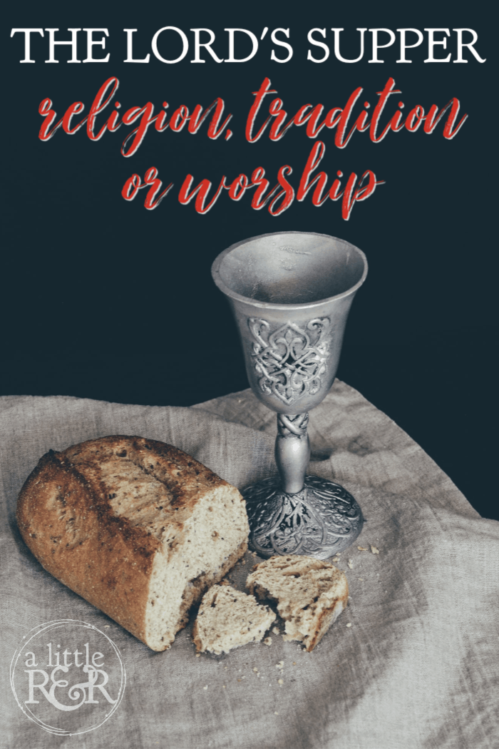 When we take communion, also known as the Lord's supper, is it just religious duty, a church tradition we fulfill at holidays or is it an act of worship? #alittlerandr #communion #church #Jesus #Easter #Passover