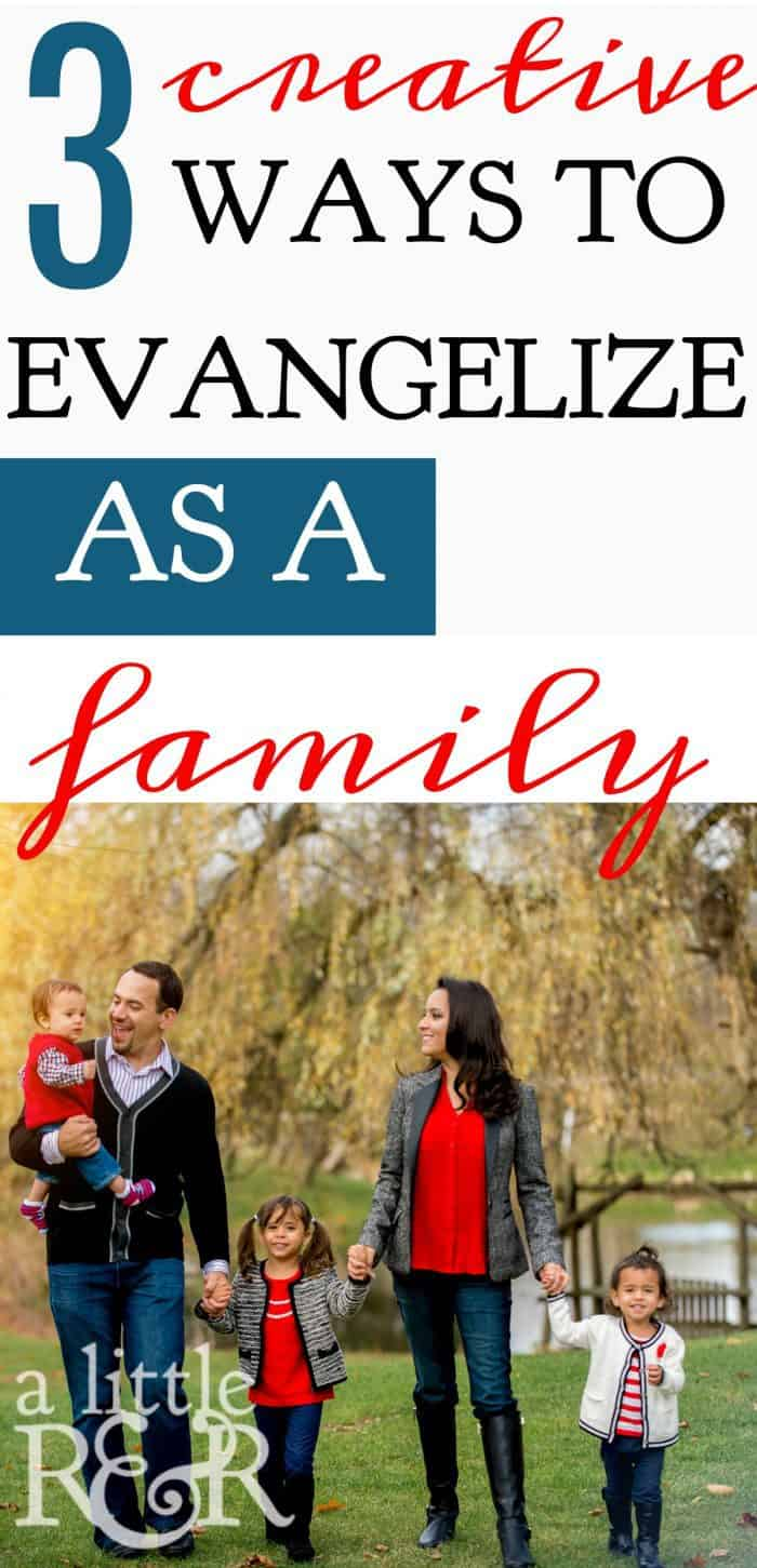 3 Creative Ways to Evangelize as a Family | Take some time to help your children understand that what we do in this life has eternal impact. #VBS #homeless #elderly #evangelism #parentinghacks #familylife #kidfriendly #momlife