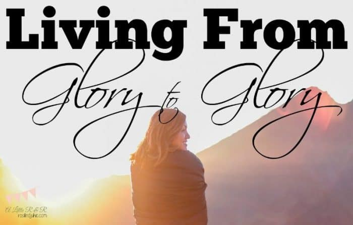 We were not meant to live life with extreme ups and downs. God's design is that we live from glory to glory. Don't let that fire burn out!