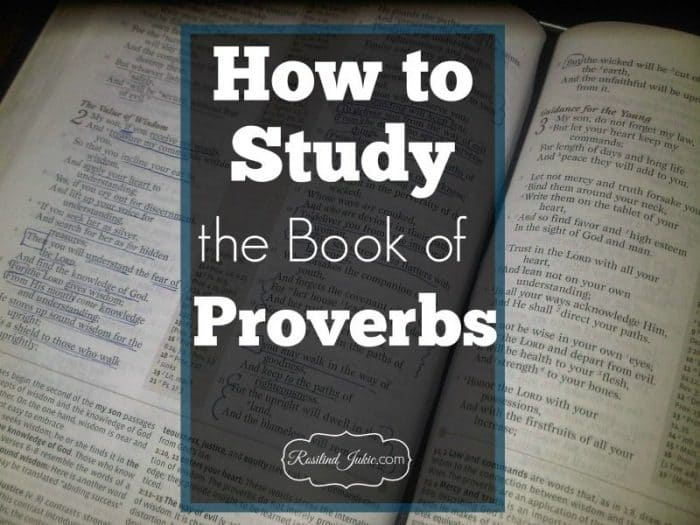 Proverbs is full of lovely lists and key words that teach wisdom and the fear of the Lord. Here's how to study the Proverbs!