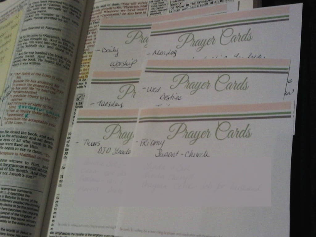Organize your prayer life with these free printable prayer cards!