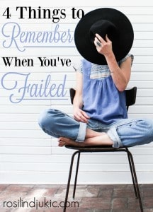 I really blew it the other day! But here is what the Lord reminded me about those moments when we've failed.