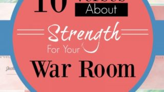 10 Verses on Strength For Your War Room