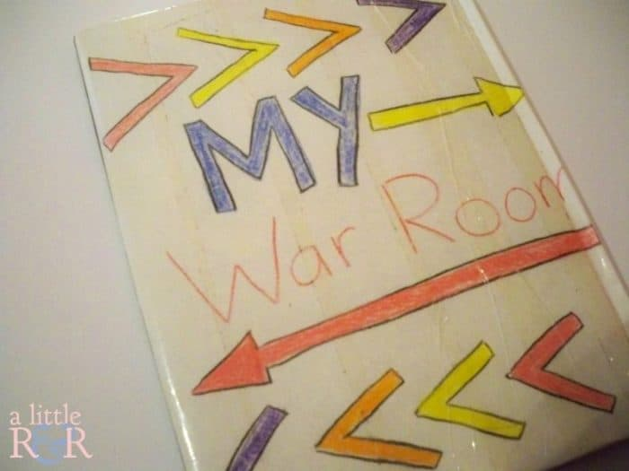 I didn't have room in my house for a War Room, so here is what I did! I love this!