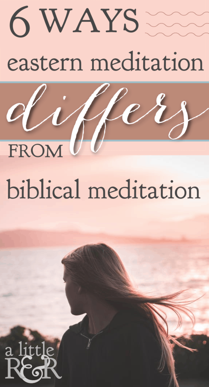 Do you know the difference between Eastern meditation and biblical meditation? Biblical meditation is a Christian discipline we should employ everyday. #alittlerandr #meditation #selfcare