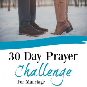 Take 30 days and pray for your marriage. Not just your spouse, but for your marriage! Download this free 32 page printable pack today by clicking here!