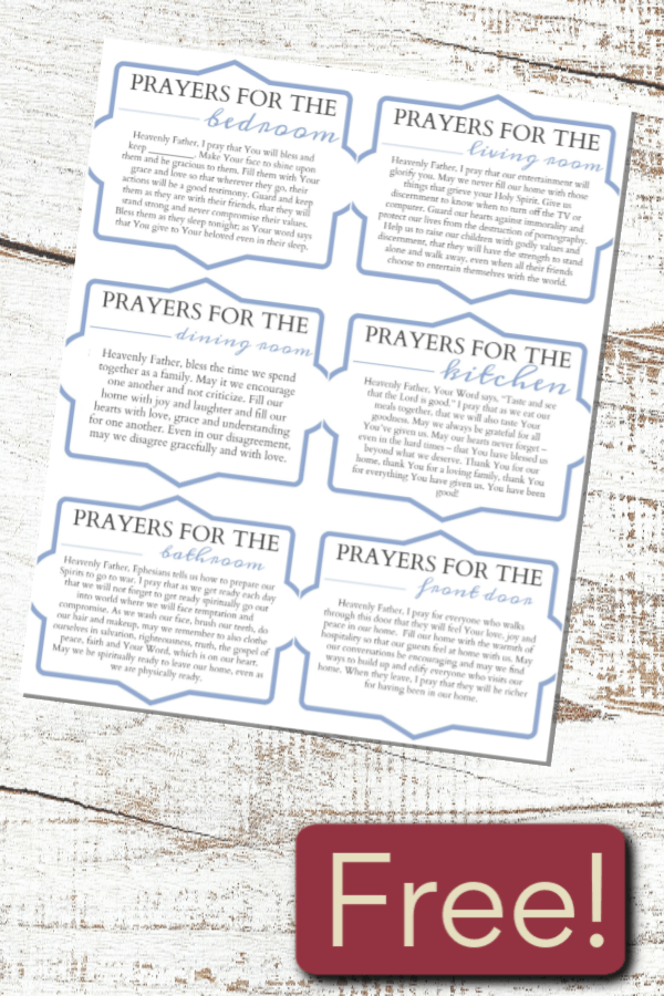 Download this set of pocket prayers to make your whole house a war room as you clean your house each day. Clean your house and cover your family in prayer. #alittlerandr #warroom #prayer #homemaking