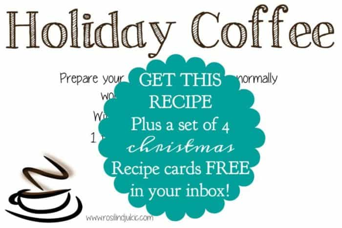 I love these recipe cards! They are fun, perfect for homemade Christmas gifts, and a lovely way to write down my favorite holiday meals!