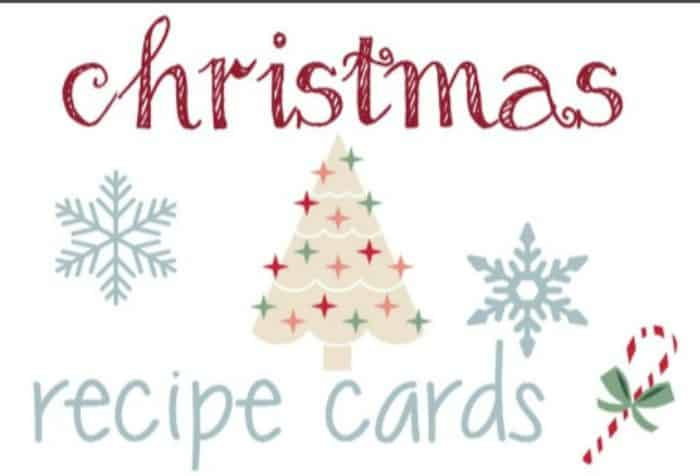 I love these recipe cards! They are fun, perfect for homemade Christmas gifts, and a lovely way to write down my favorite holiday meals! #alittlerandr #recipe #recipecards #freeprintable