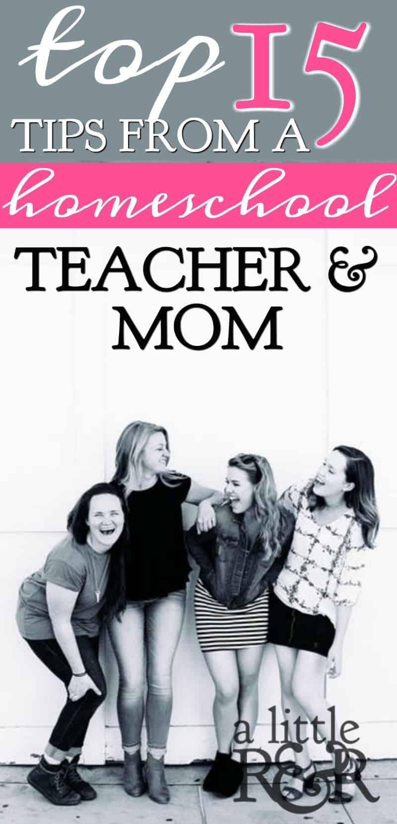 With the busyness of homeschooling our kids, it can be easy to lose sight of the most important parts. Here are 15 Tips From A Homeschool Teacher and Mom A Little R & R | Rosilind Jukić | Christianity | Christian living | Christian blog | Christian faith | Homeschool | Homeschooling | Motherhood | Mothers | #homeschooling #motherhood #parenting #Christian #Christianliving #spiritual #spiritualgrowth #Bible #God #jesus