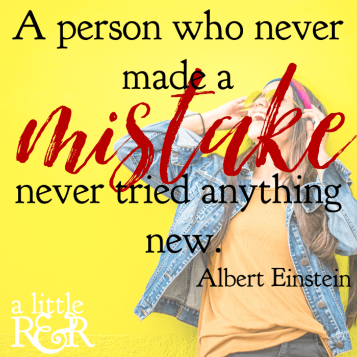 A person who never made a mistake never tried anything new. #alittlerandr #failure #alberteistein