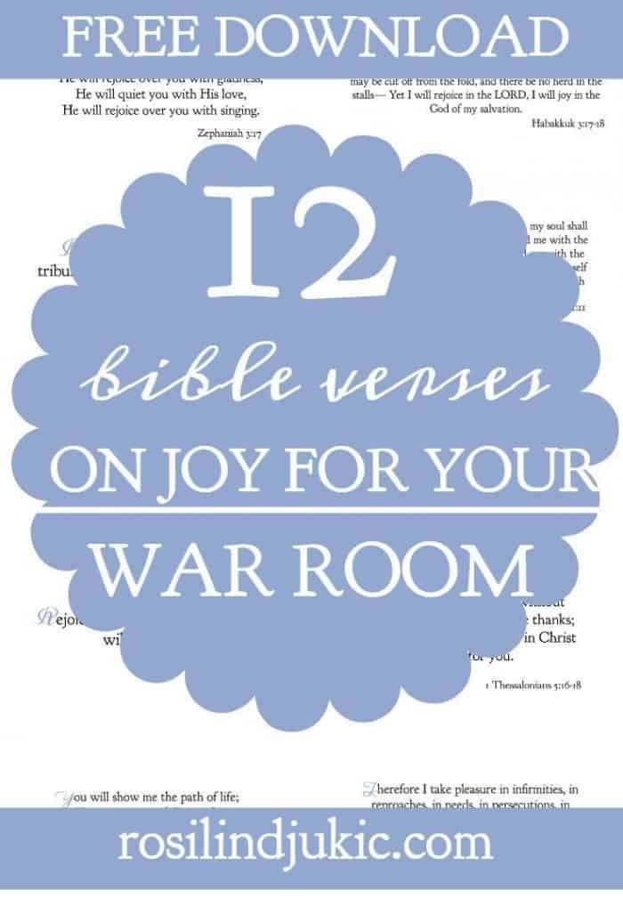 These verses have helped me so much! Christians should be the most joyful people on earth. Here are 12 Bible verses on joy for your war room for when you're going through sorrow.