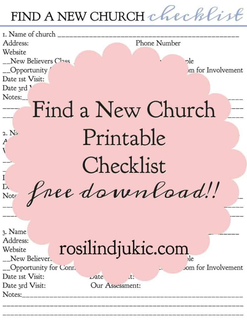 Download this free printable checklist to help you find a new church.
