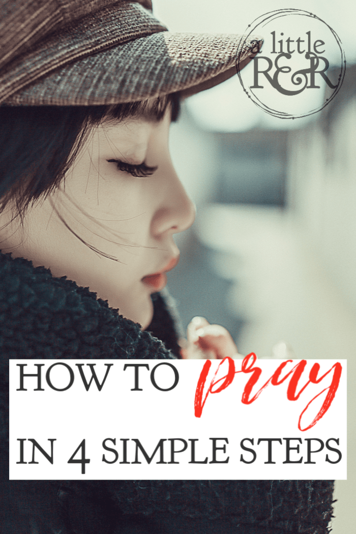 Here are 4 tips to teach you how to pray, as a new or even mature Christian. These tips will help you establish a strong and fulfilling prayer life. #alittlerandr #prayer #warroom #quiettime