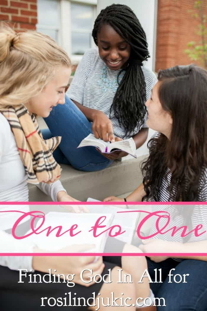 What are you doing today to connect with someone one to one in growing your relationship with Christ together? Here are some ideas for how you can do that.