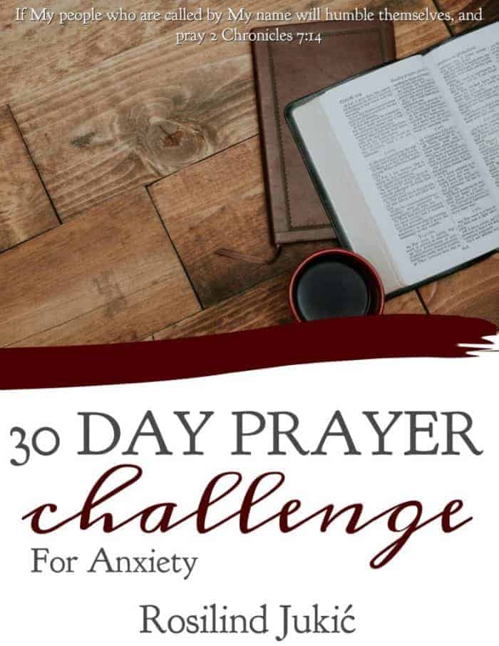 Join the 30 Day Prayer Challenge for Anxiety today! Click here to find out how you can download your copy today! A Little R & R | Rosilind Jukić | Christianity | Christian living | Christian blog | Christian faith | Bible Verse | Anxiety | Fear #fear #anxiety #prayer #warroom #warriorprincess #prayerjournaling #Scripture #Christian #Christianliving #spiritual #spiritualgrowth #Bible #God #jesus via @alittlerandr