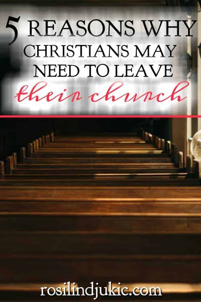 Leaving your church is not a decision to be made lightly, but there are times when Christians find themselves in a place where they must make that decision. #alittlerandr #church #Christians #ChristianLiving