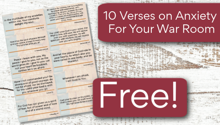 10 War Room Verses For When You Feel Discouraged - Printable - A