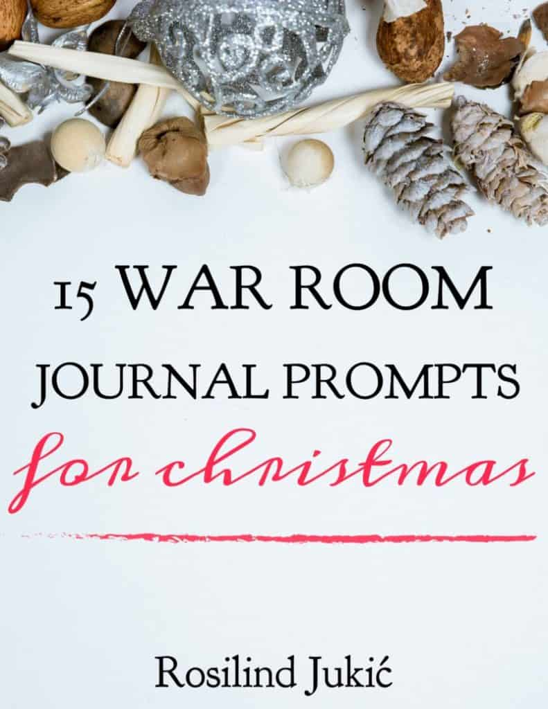 Slow down this Christmas and reflect on the characters and symbols of Christmas, familiar and hymns, with these 15 War Room Journal Prompts for Christmas. #alittlerandr #Warroom #Christmas #prayerjournal #journaling #artjournaling #christmascarols #Jesus #hymns