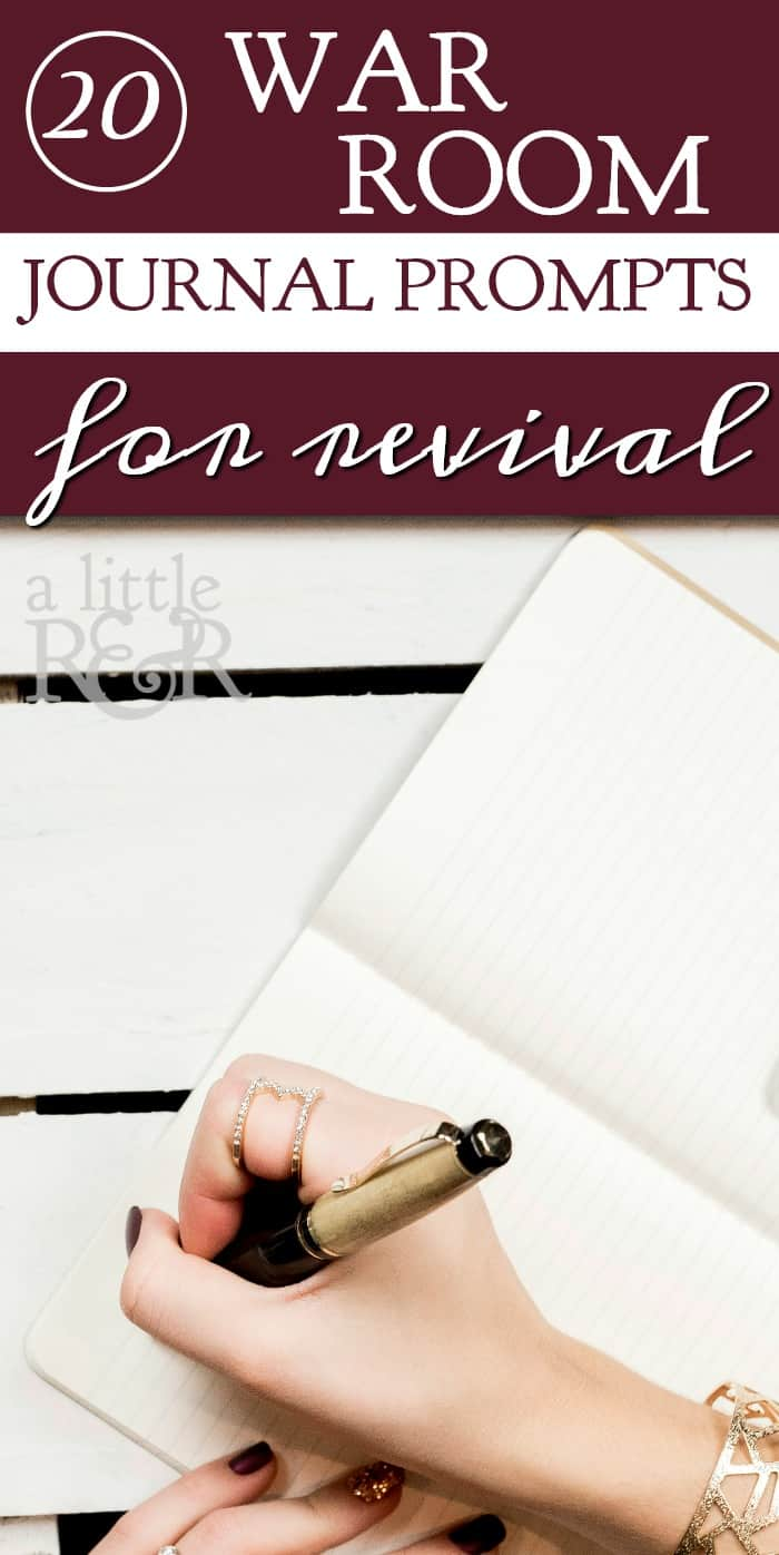 Keeping a prayer journal not only helps you track your spiritual growth, it also helps you see how God answers prayer. Here are 20 war room journal prompts for revival.