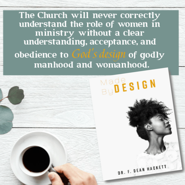 The Church will never correctly understand the role of women in ministry without a clear understanding, acceptance, and obedience to God's design of godly manhood and womanhood. #alittlerandr #womeninministry #women #genderroles #preach #church