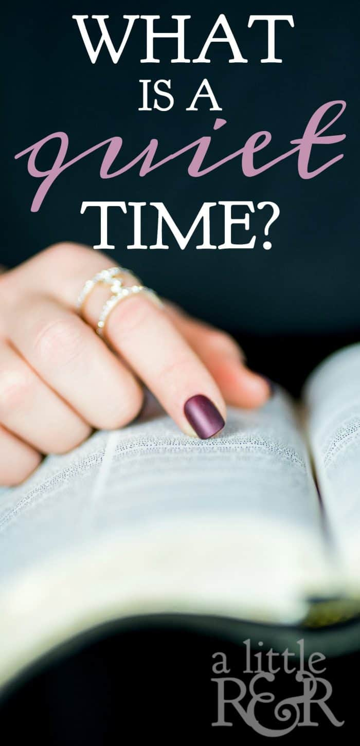 What Is a Quiet Time? Girl reading the Bible