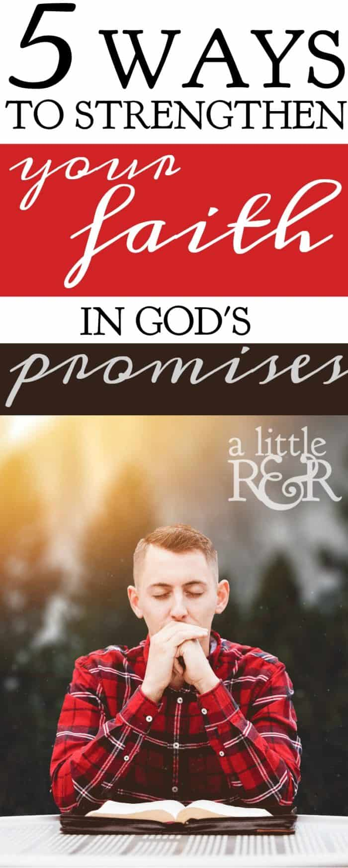 God rarely fulfills His promises to us right away, and in that span of time between the promise and the fulfillment of that promise we are often tempted to grow discouraged and disillusioned. Here are 5 ways to strengthen your faith while waiting on God's promise.