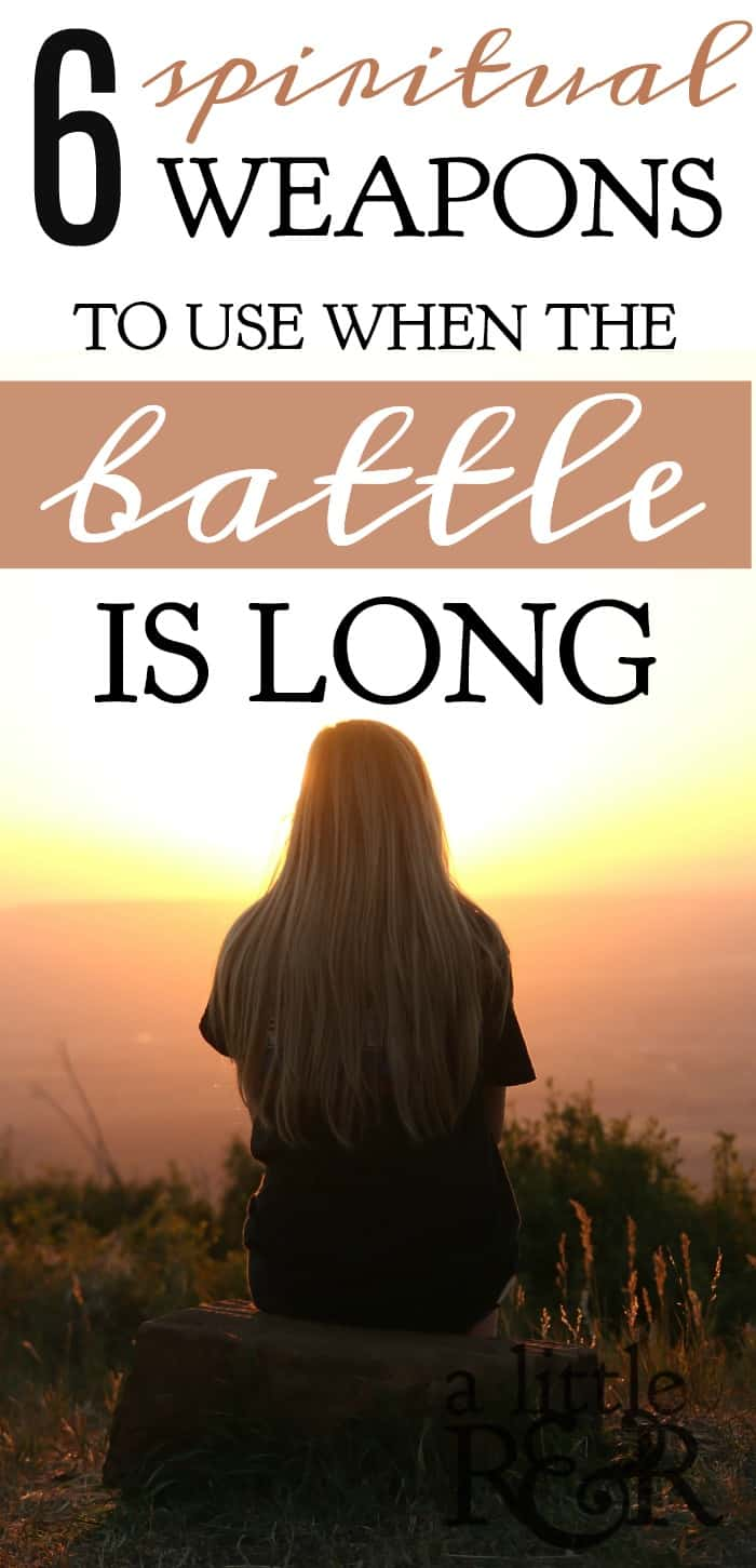 How we respond when the battle is long and we are weary and ready to give up is the difference between victory and defeat. A soldier is fitted with 6 spiritual weapons that enable him to be victorious over the enemy. #alittlerandr #spiritualwarfare #depression #hope #onlinebiblestudy #Bible #Christianliving