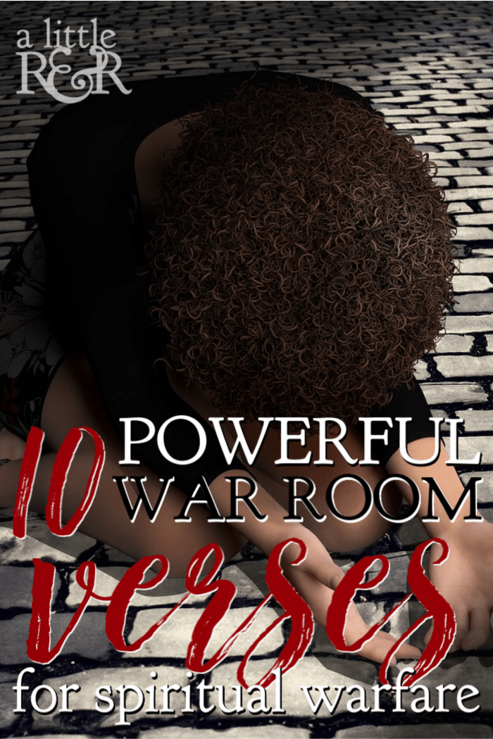 When you're encountering spiritual warfare, take these 10 powerful verses to your war room.   A Little R & R   Rosilind Jukić   Christianity   Christian living   Christian blog   Christian faith   Spiritual Warfare   Quiet Times   #christianblog #christianfaith #christianliving #spiritualgrowth #warroom #warrior #spirituawarfare #Bible #God #Jesus #momlife #mom #quiettime #SOAK #biblejournaling #biblestudy