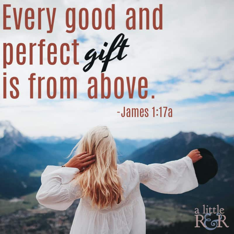 Every good and perfect gift is from above. James 1:7a #faith #Bible #Christianliving #Christian #Jesus #warroom #spiritualwarfare