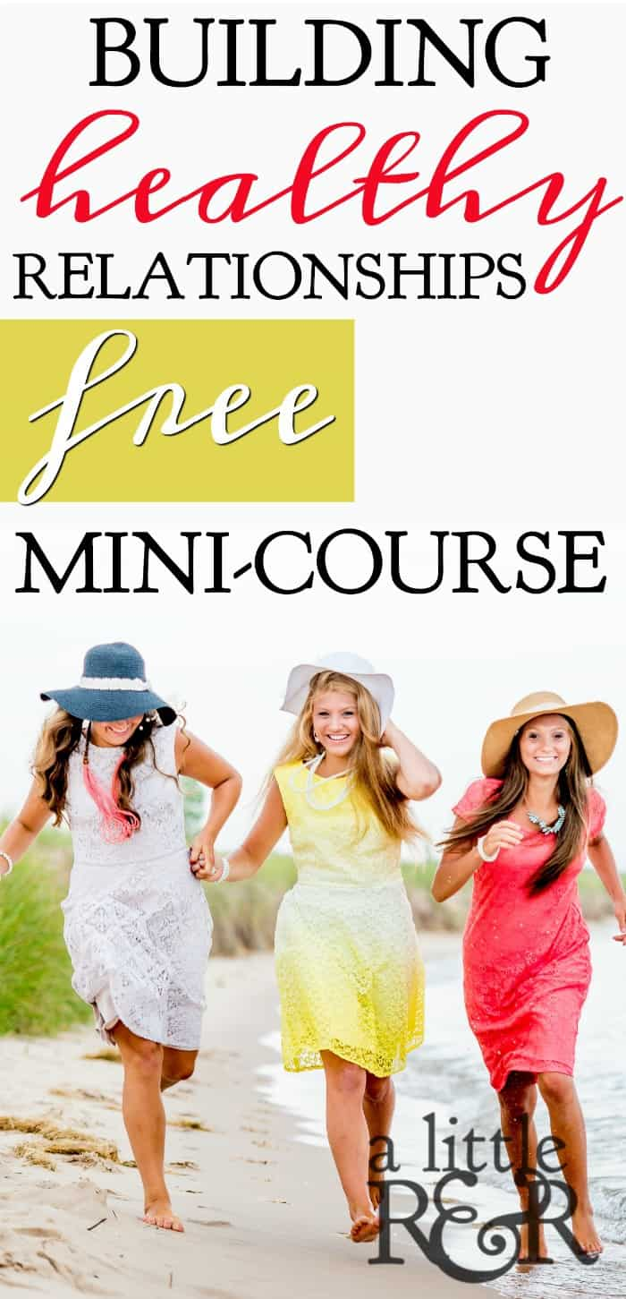 Learn how to identify healthy and toxic friendships in your life, as well as how to be a healthy friend to those around you with this free 9-part mini-course. Sign up today! #alittlerandr #frienships #relationships #toxicfriends