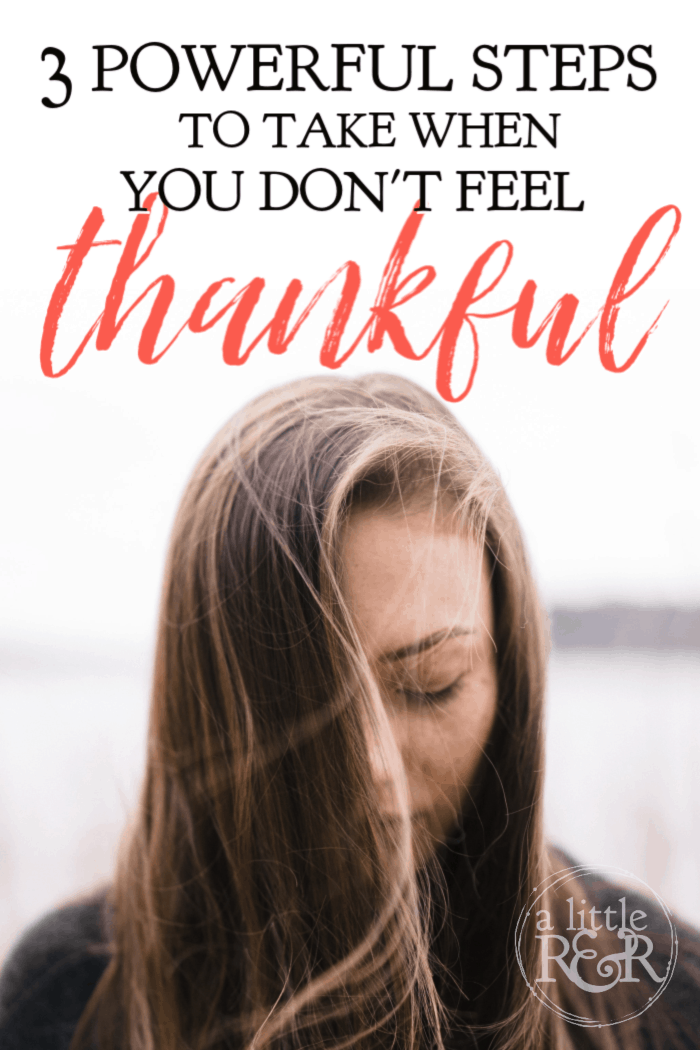 Here are 3 steps to take when you don't feel thankful this year; instead of pulling away and surviving this season, rise up and let joy fill your heart.#alittlerandr #thanksgiving #thankful #trials via @alittlerandr