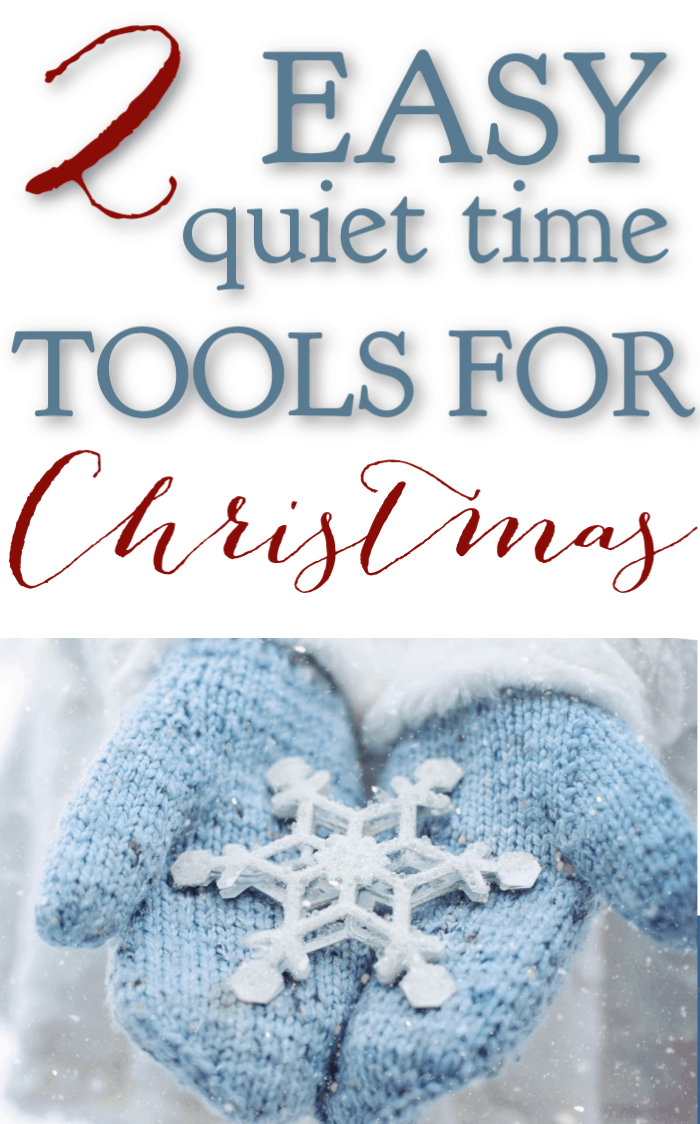 If you're a busy mom, you are looking for ways to keep your quiet time simple but meaningful and effective. Here are 2 easy quiet time tools for Christmas. #alittlerandr #Christmas #quiettime #warroom #Biblejournaling #Bibleverses via @alittlerandr