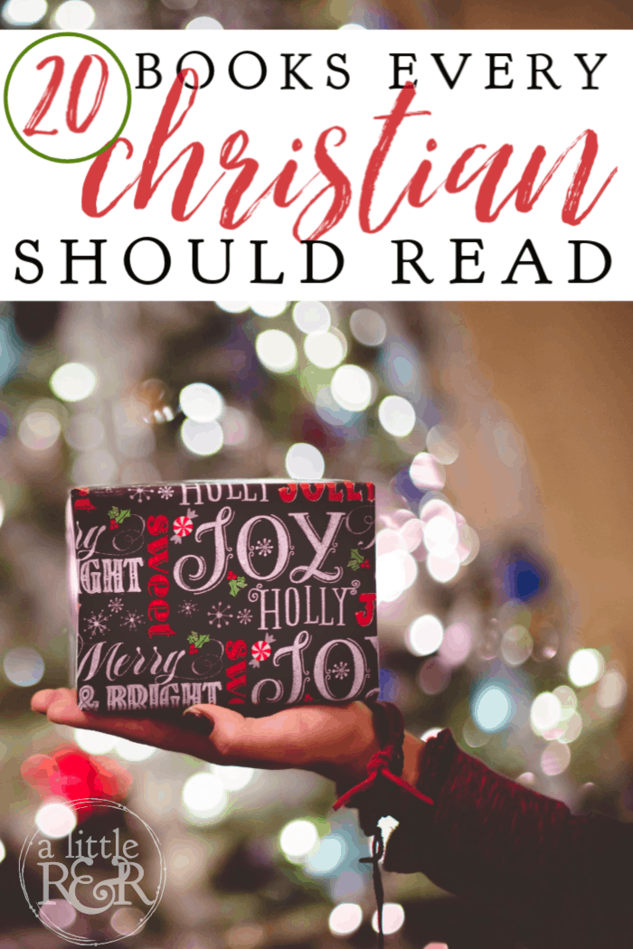 Are you looking for the perfect book for the book lover in your life? Here are 20 books every Christian should read for spiritual growth. #alittlerandr #books #Christianbooks #Christianauthors #Gift Guide