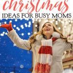 Moms tend to spend all of their time making sure that our families have a meaningful Christmas, so here some Christmas ideas for busy moms. #alittlerandr #Christmas #Christmasactivities #advent #Jesus