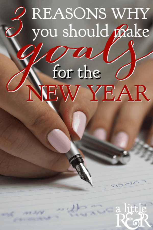 If you're tired of making and breaking New Year's resolutions, then you need to try my method of making goals for the New Year. Plus a free worksheet! #alittlerandr #goalsetting #goals #NewYearsGoals #NewYearsResolutions