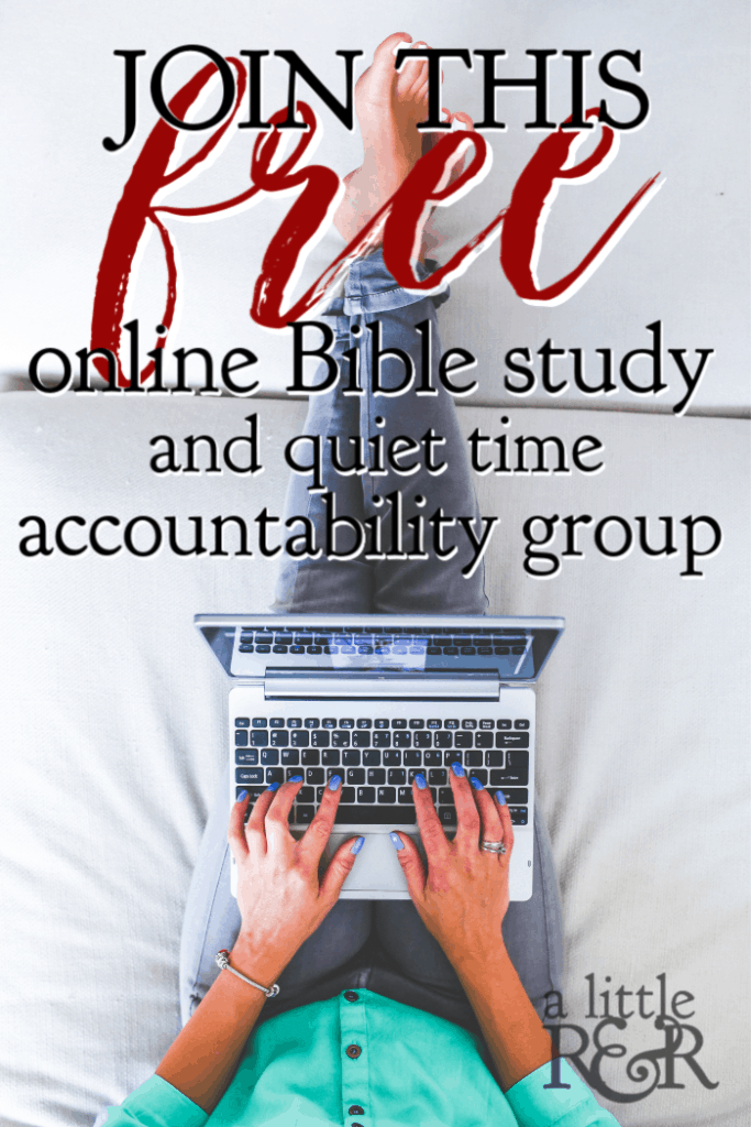 Join me, and thousands of women around the world, as we read the Bible cover to cover just one chapter a day! #alittlerandr #onlinebiblestudy #bible #quiettimes