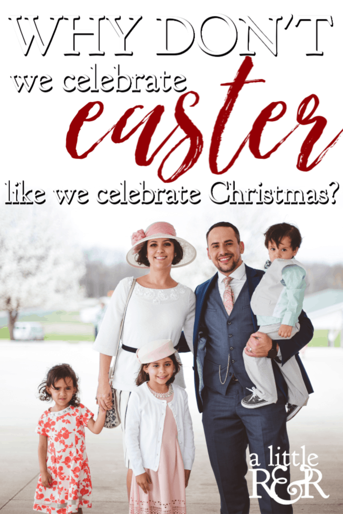 Why do we celebrate Christmas for a whole month, but only celebrate Easter for a few days? Shouldn't we at least celebrate Jesus' resurrection as much as His birth? #alittlerandr #Easter #gospel #evangelism #Jesus #Bible