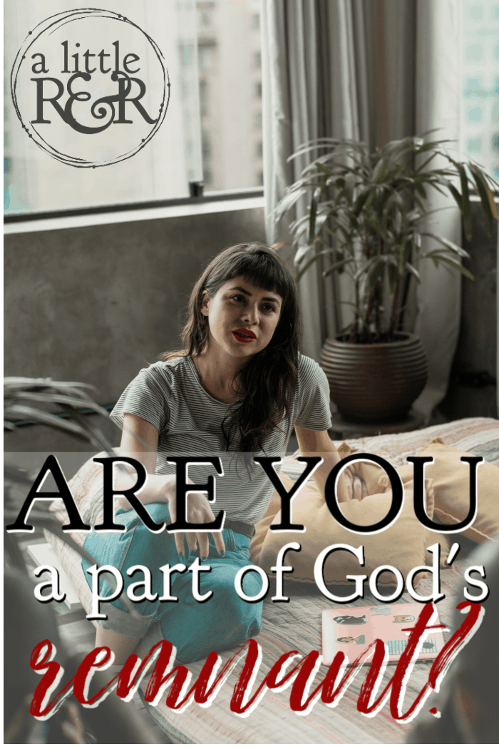 In 1 Kings and Romans, we see reference to God's remnant - a group of believers who have refused to follow societal norms. Are you a part of God's remnant? #alittlerandr #bible #onlineBiblestudy #WomensBibleStudy #1kings via @alittlerandr