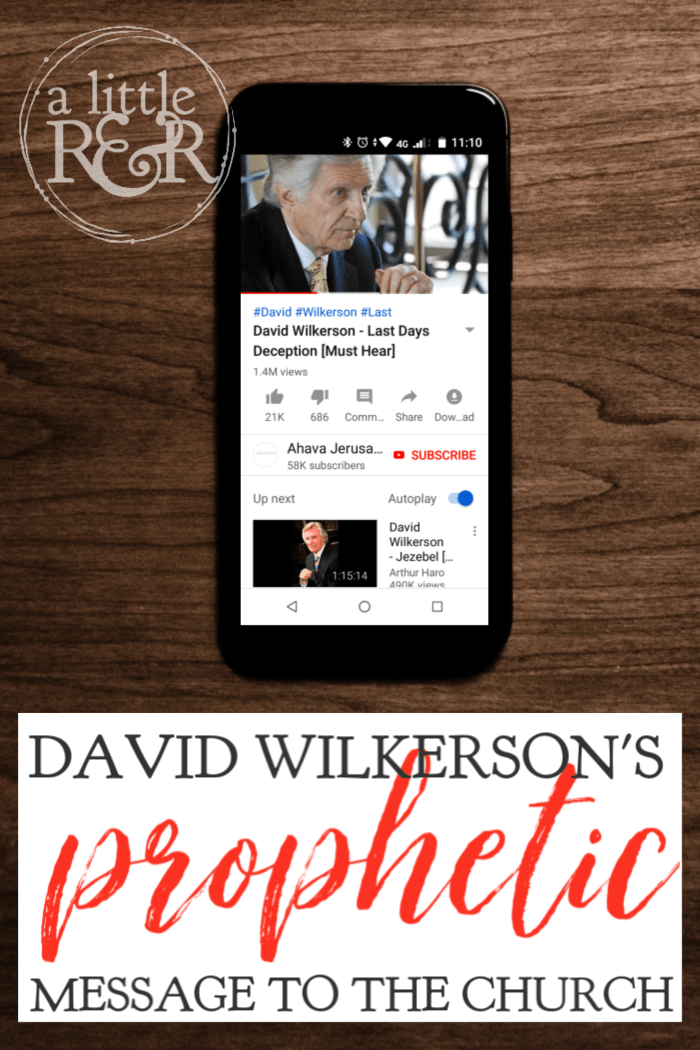 This sermon is a relevant message for today's generation. Listen to David Wilkerson's prophetic message to the church, a call to repentance and holiness. #alittlerandr #DavidWilkerson #Prophecy #church #holiness