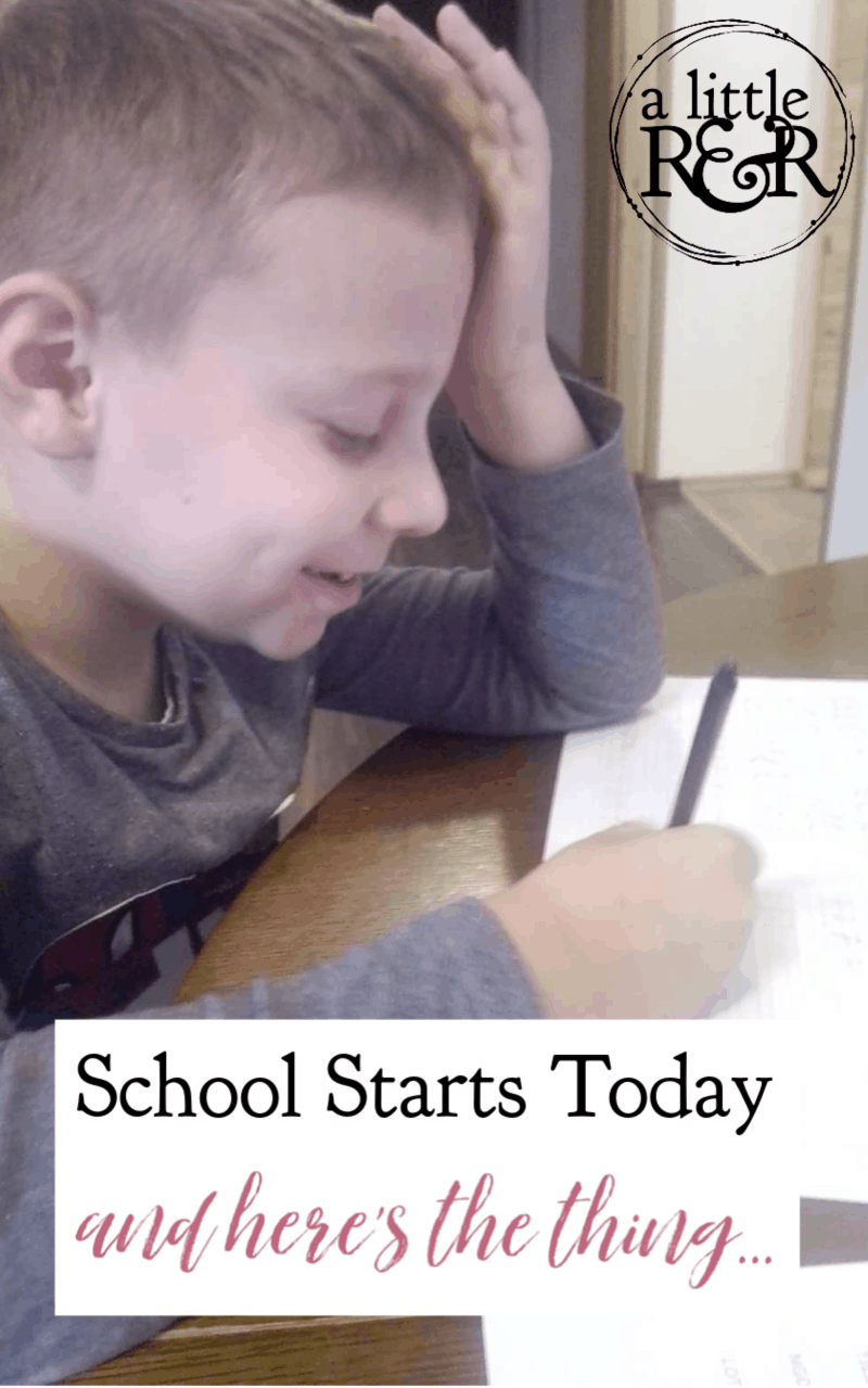 Summer didn't go as planned, but I don't feel any regrets on this first day of homeschool, and here's why. School starts today and here's the thing... #MERLDhomeschooling #language #languagedevelopment #MERLD #homeschool #specialeducation