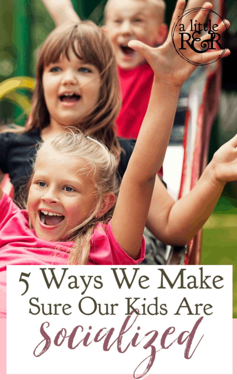 One of the greatest arguments against homeschooling is socialization. However, socialization isn't limited to school. Here are 5 ways we make sure our kids are socialized. #alittlerandr #homeschooling #socialization #homeschoolhacks via @alittlerandr