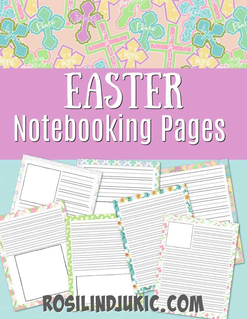 Grab these fun and colorful notebooking pages for Easter and make the Easter season meaningful and a new learning experience. #alittlerandr #easter #notebooking #noteboookingpages