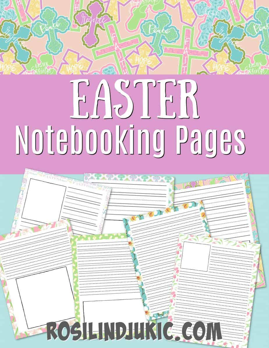 Grab these fun and colorful notebooking pages for Easter and make the Easter season meaningful and a new learning experience. #alittlerandr #easter #notebooking #noteboookingpages via @alittlerandr