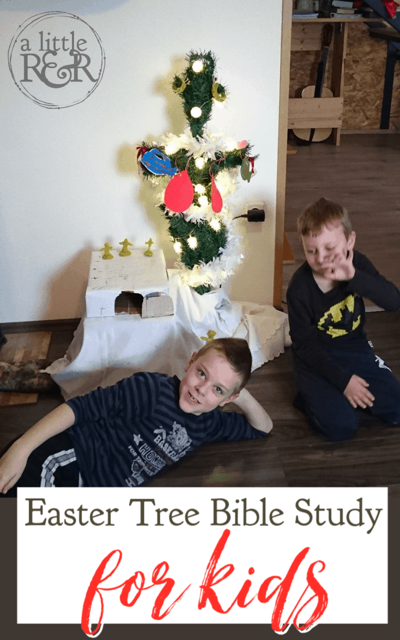 Help your children connect the events of Christmas and Easter with this easy Easter Tree Bible study for kids, complete with a reading plan and crafts. . #alittlerandr #easter #easterstudy #eastercraftsforkids #kidfriendly via @alittlerandr