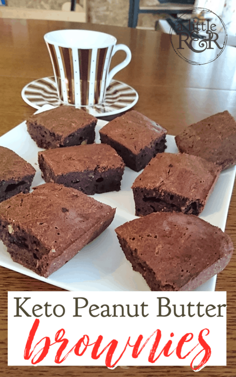 This is the very best keto peanut butter brownies recipe made with coconut oil. With only 6 carbs per serving, they are a non-guilty pleasure. #alittlerandr #keto #ketogenic #brownies #desserts #easyrecipes