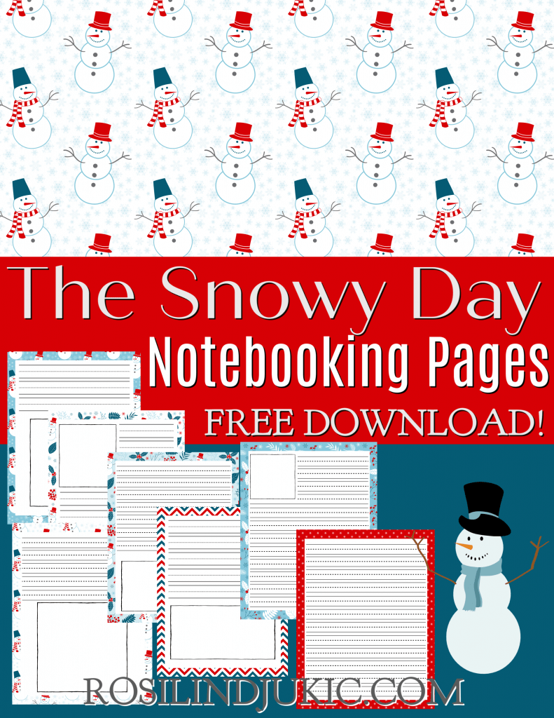 These cute and fun The Snowy Day notebooking pages are free and great to use to help build comprehension of the famous book by Mr. Keates. #alittlerandr #thesnowyday #notebookingpages #homeschooling