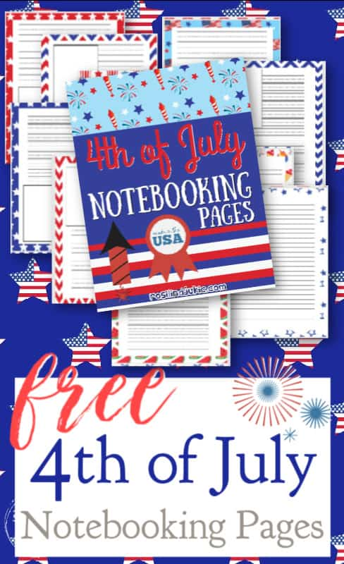 These free 4th of July Notebooking Pages are colorful and fun. There are pages for 4 different writing levels to use with multiple ages. #alittlerandr #notebooking #printables #4thofJuly #indepndenceday #homeschooling #MERLD #specialneedshomeschooling #journaling #artjournaling via @alittlerandr