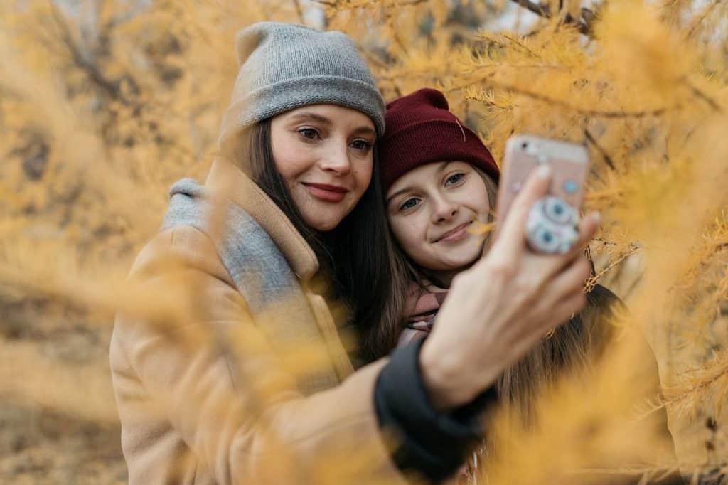 Two girls taking a selfie