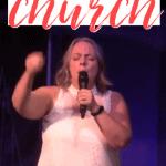 woman speaking in a church
